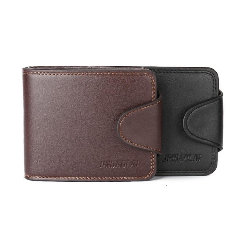 2016 Luxury Brand JINBAOLAI Wallet Men Fashion Bifold PU Leather ID Credit Card Holder Clutch Billfold Purse Wallet(China (Mainland))