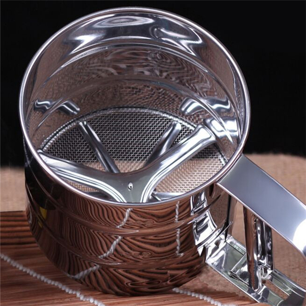 Mesh Flour Sifter Tool for Baking and Icing (Sugar Shaker, Sieve Cup)
