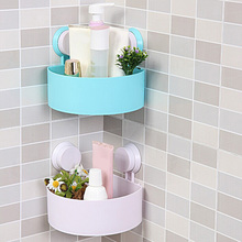 V1NF Sucker Corner Triangle Shelf Bathroom Kitchen Storage Rack Free Shipping