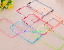 Glow in Dark Luminous Hybrid Hard Clear transparent Crystal Plastic Soft TPU cover case cases For Iphone6 Iphone 6 6G 20PCS
