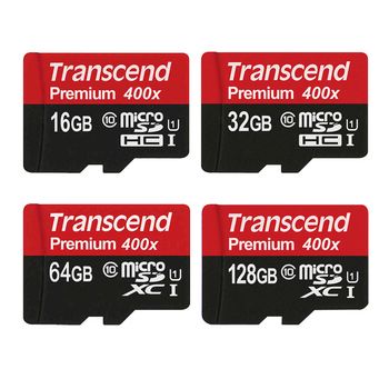 Transcend Micro SD Card 128GB 64GB 32GB 16GB High Speed 60MB/s UHS-I 400X MicroSD SDXC SDHC Card