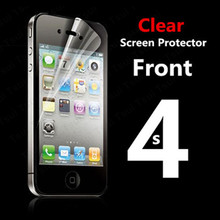 Front  Full body Transparent Clear LCD HD Screen Protector Film for Apple iPhone 4 4S 4G Protective Film with Cloth