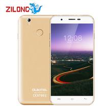 Oukitel U7 Plus Smartphone Android 6.0 5.5'' 1280x720 MT6737 Quad Core 2GB RAM 16GB ROM 2500mAh Fingerprint 4G LTE Mobile Phone(China (Mainland))