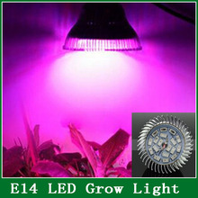 1Pcs E14 Grow Bulb Lamp 15W 12 Red + 6 Blue 5730 18 SMD LED  Light for Flowering Plant and Hydroponics System AC 85-265V