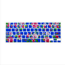 Blue Flower Pattern Silicone Laptop Keyboard Skin Protector Cover Film Guard For All Apple Macbook Pro Air Retina 13 15 17