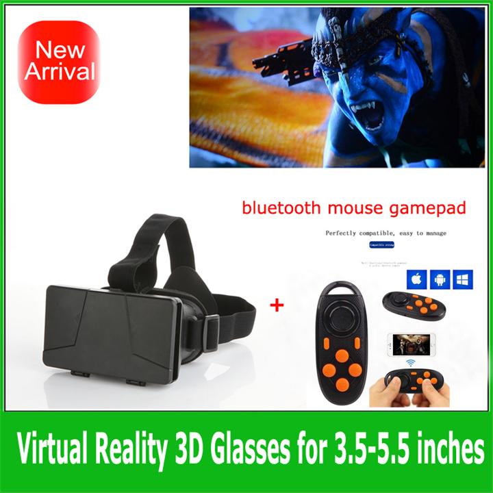 1set oculus rift glasses Colorcross Headmount 3D VR Virtual Reality Glasses Google Cardboard + Wireless Bluetooth Gamepad(China (Mainland))