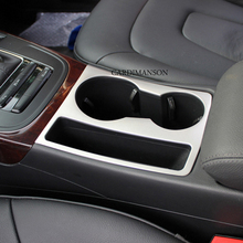 Stainless steel car water cup holder frame decal cover trim RS S line logo interior 3D sticker accessories Audi A4 A5 - Jiangsu Auto Mall store