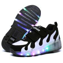 Heelys ילדי זוהר סניקרס ילדים רולר סקייט נעלי ילדי Led אור עד נעלי בנות בני סניקרס עם גלגלים Heelies(China)