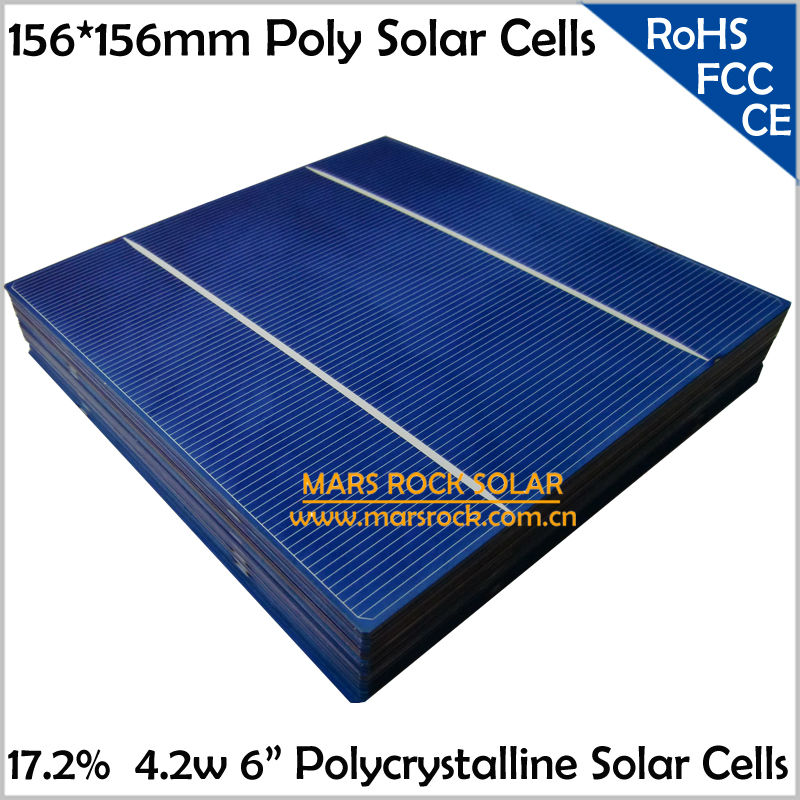 100pcs 17 2 4 2w 156mm Polycrystalline Solar Cell With
