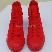 Классический 1:1 унисекс мужские женщины дамы высокой / низкой топ стиль все красный / синий / белый / черный холст свободного покроя кроссовки обувь