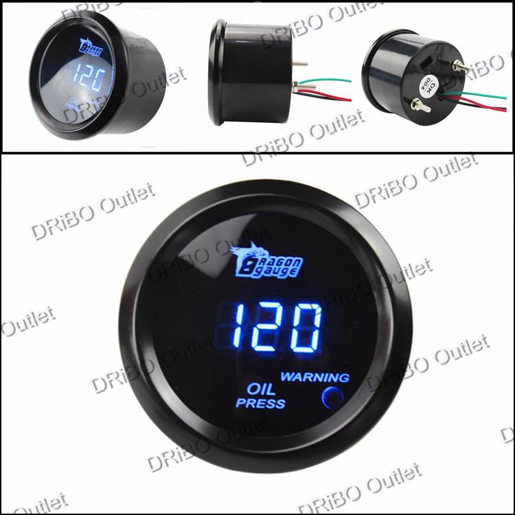 2 /52mm Digital Wideband Oil pressure gauge/tachometer/auto gauge/car meter/parts(black)<br><br>Aliexpress