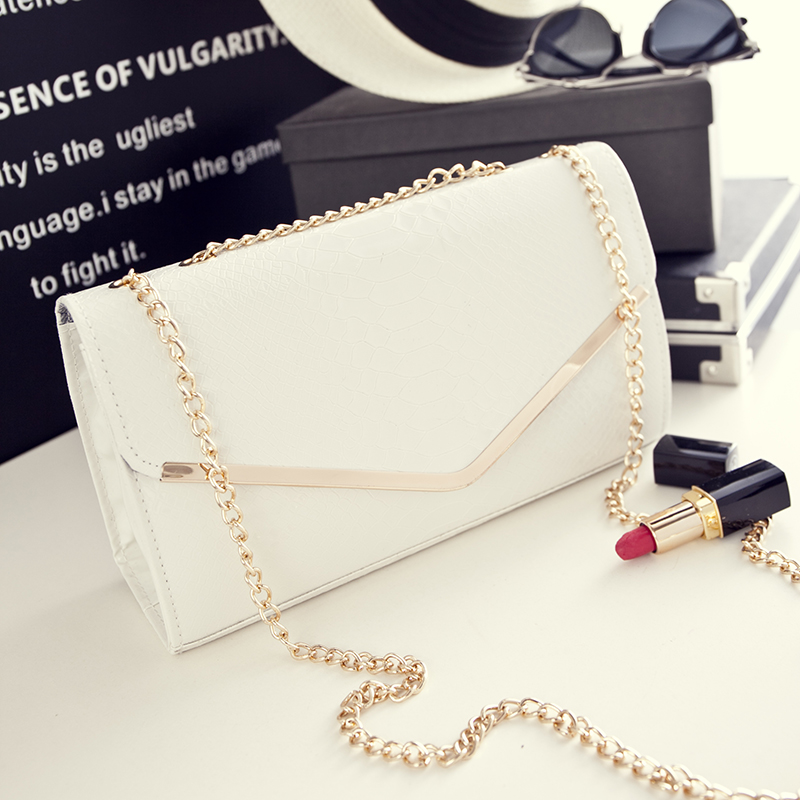 2016 new summer fashion Korean Ms. crocodile pattern chain small bag retro shoulder diagonal handbags(China (Mainland))