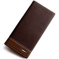 2016 Famous Brand Men s Two Layer Folded Long Top Leather Wallets With Coin Pocket Male