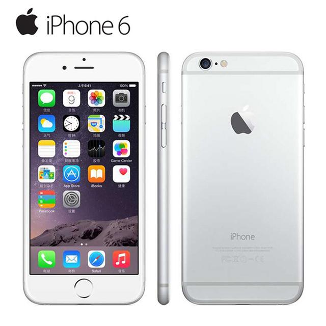 """Оригинальный Разблокирована Apple iPhone 6 Мобильный Телефон iOS Двухъядерный 4.7 """"IPS 1 ГБ ОПЕРАТИВНОЙ ПАМЯТИ 16/64/128 ГБ ROM GSM WCDMA LTE Используется телефон"""
