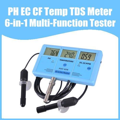 Black Multifunction Tester For Water : Free shipping ph ec cf temp tds meter tester in multi