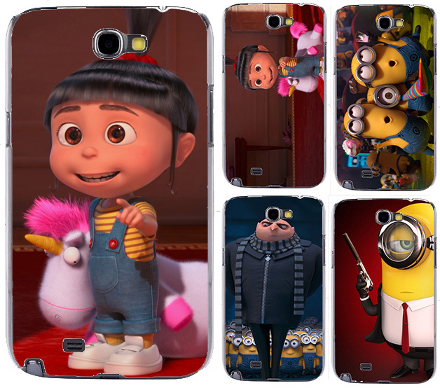 Printing Case Samsung galaxy Note II 2 Note2 N7100 Cartoon TV Despicable Gru Nefario Minion Agnes Hard Back Cover - TAOYUNXI store