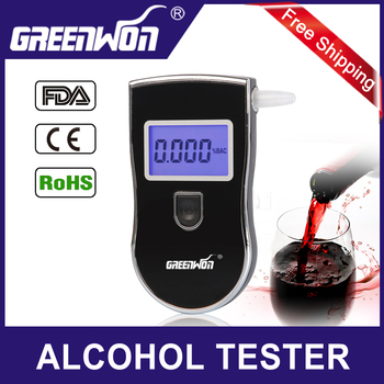 Send 10 mouthpiece Patent Police Black Digital Alcotest Alcohol Breath Analyzer Detector Breathalyzer Tester Test Wholesale