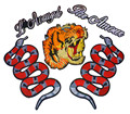 Large Embroidered Patch Iron on Realistic Tiger Snake Letter Tiger head Animal Wildlife DIY Applique 3D