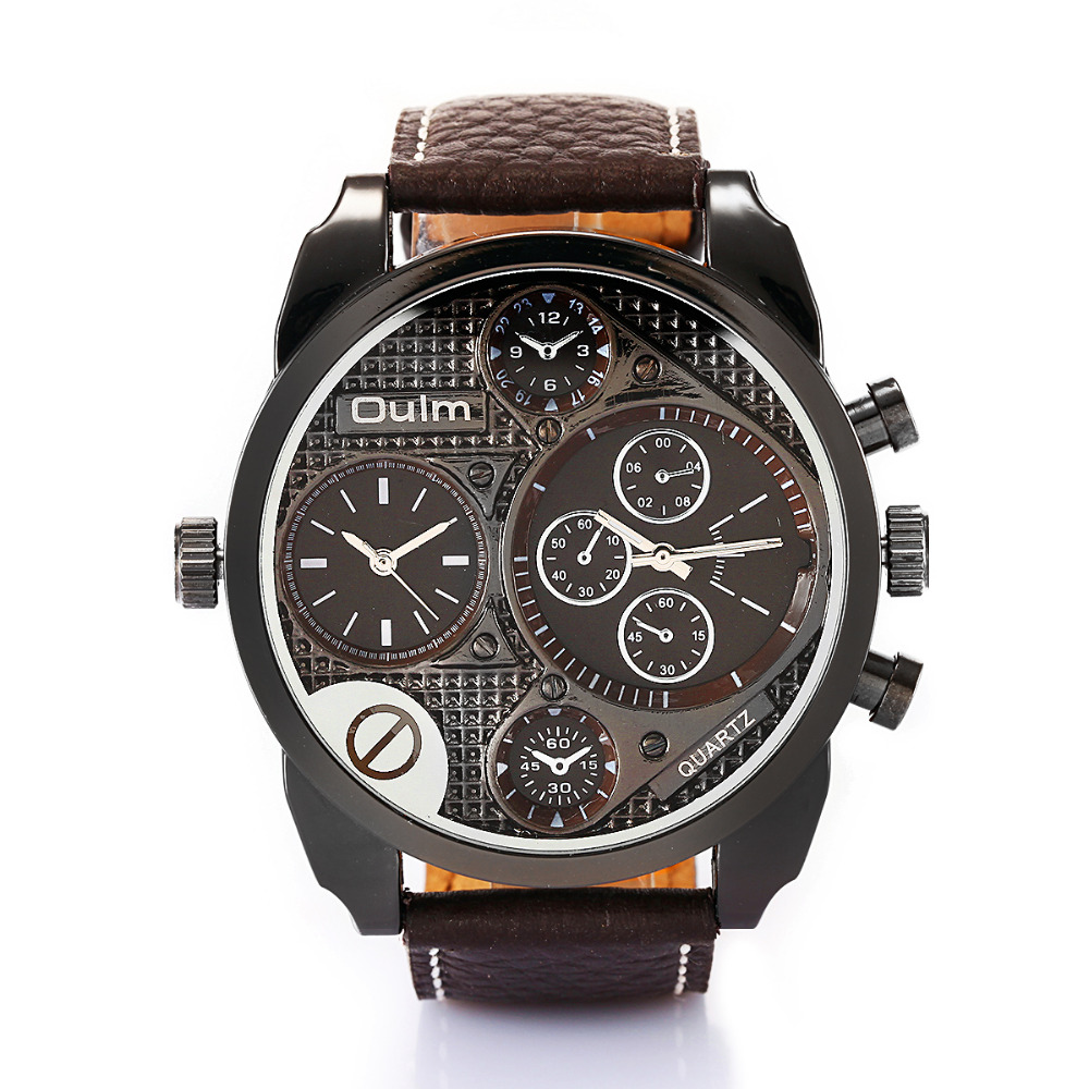 oulm watches quartz casual leather