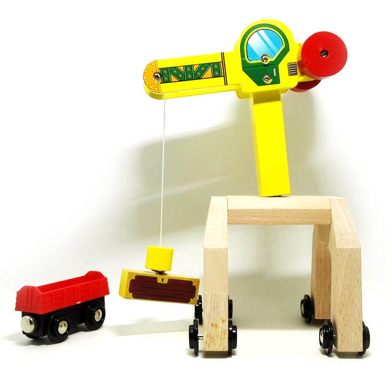 p002 magnetic mobile cranes and cargo compartments Thomas compatible wooden track rail cars and applies a magnetic alloy car(China (Mainland))