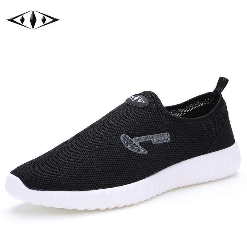<font><b>LEMAI</b></font> 2016 Fashion Mens Shoes Breathable Mesh Running Shoes Super Light Casual Summer Men Outdoor Sport Black Sneakers 016-1