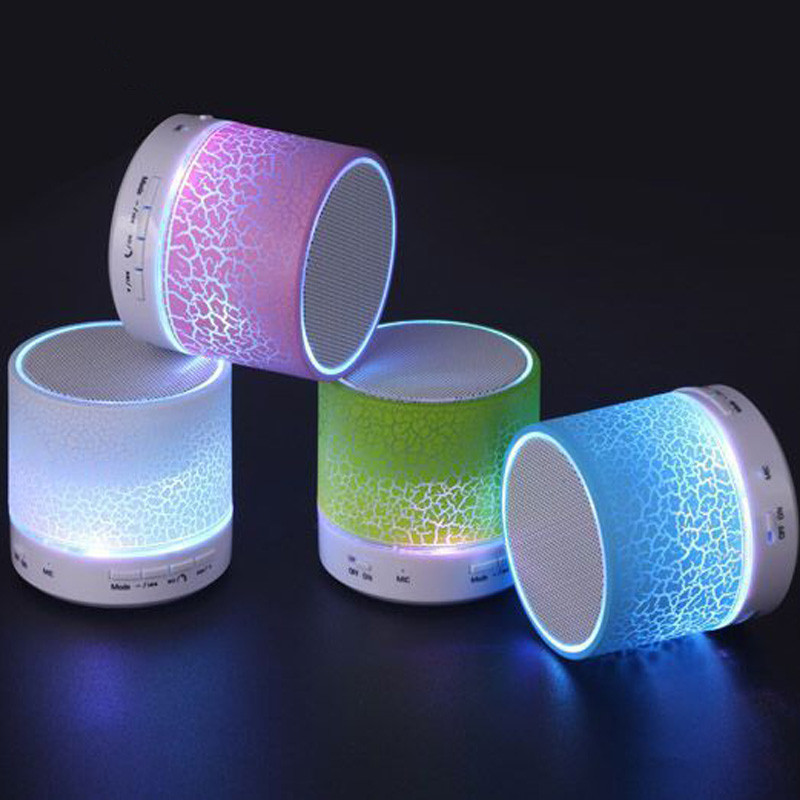 LED Portable Mini Bluetooth Speakers Wireless Hands Free Speaker With TF USB FM Mic Blutooth Music For Mobile Phone iPhone 6 7 s