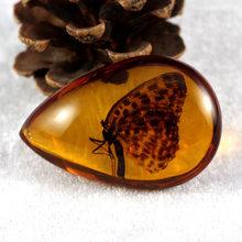 Новое поступление скорпион DIY орнамент натуральный насекомое свитер цепь ремесло подарок ожерелье янтарный кулон бабочка насекомые Камень(China)