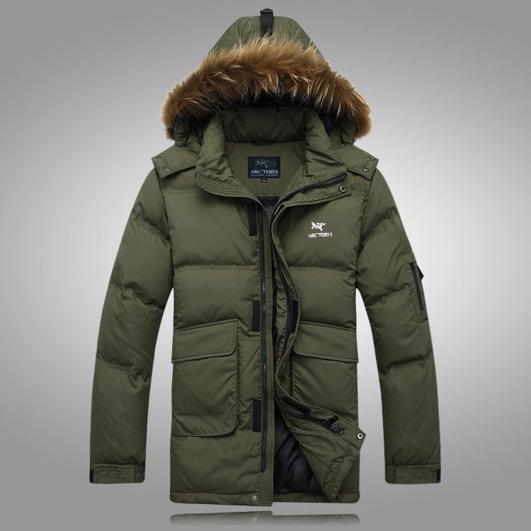 2014 new BRAND Down Jacket Winter Jacket Men Coat 90% White Duck Long Thicken Outwear Hooded Real Fur Men's Parka Big Size 4XL(China (Mainland))