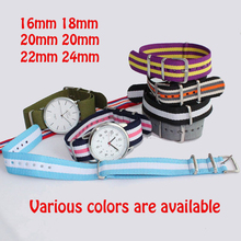Buy Watchband Nato Nylon Watch Band Various Colors Choose Belt Wristband Gift 16/18/20/22/24mm dw Watch Strap Boys Girls Co., Ltd.) for $2.69 in AliExpress store