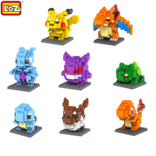 Pokemon Go LOZ Minifigure Building Blocks Nano Block DIY Pikachu Figure Model Toys Miniature Diamond Brick Gifts for Children