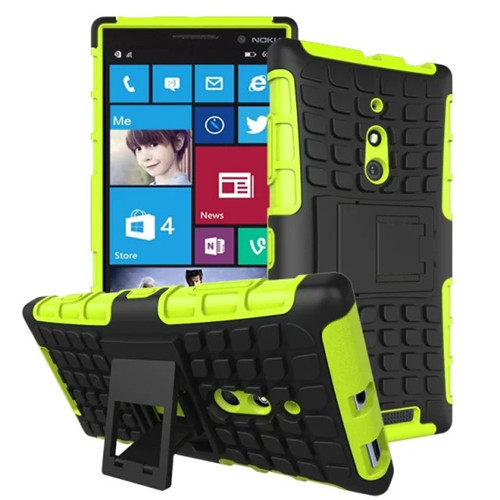 10PCS/LOT 2 in1 Armor Rugged Hybrid Heavy Duty Case For Nokia Lumia 830 Phone Case With Stand Holder For Lumia 830 Cover HYQ-15(China (Mainland))
