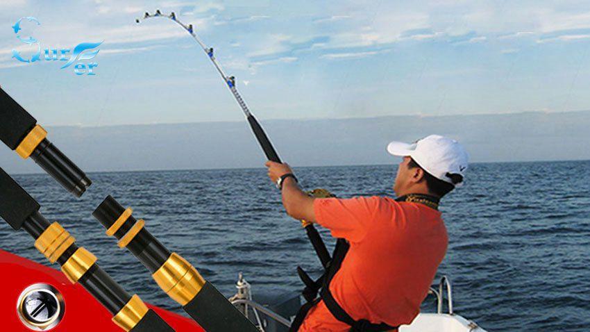 1.98m Heavy duty boat fishing rod carbon raft jigging trolling rod fishing pole saltwater rod(China (Mainland))