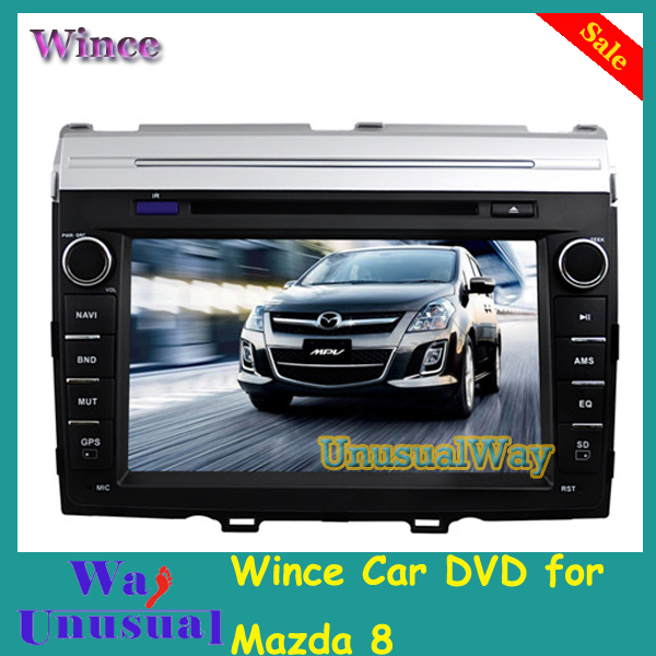 Free Shipping 2015 Top Professional Wince Car Entertainment Multimedia System DVD Player Radio For Mazda 8 With GPS BT Free Map(China (Mainland))