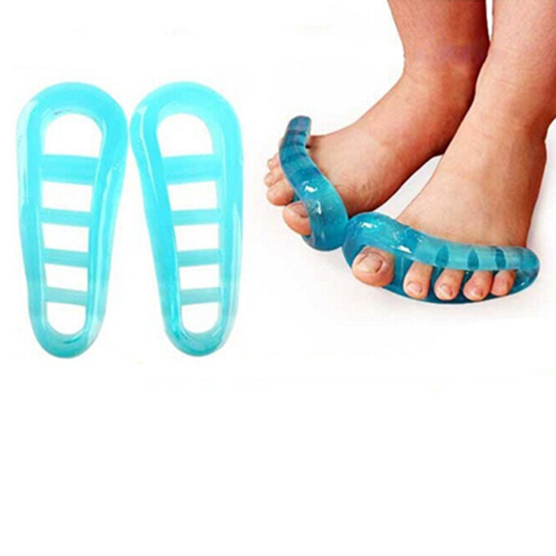5Pair/lot Silicone Gel foot fingers 5 Hole Toe Separator Thumb Valgus Protector Bunion adjuster Hallux Valgus Guard feet care<br><br>Aliexpress