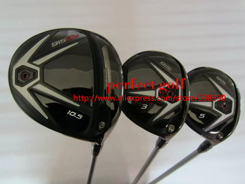 915 D3 D2 wood set Golf Driver 9.5*/10.5* 915F Fairway Woods 15*/18* With Diamana 50 Graphite Shafts Golf Headcovers(China (Mainland))