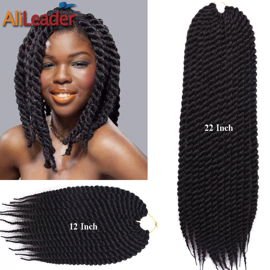 Crochet Marley Hair How Many Packs : Twist Crochet Braids Curly 12Roots/Pack 12 22 2X Box Braids Hair ...