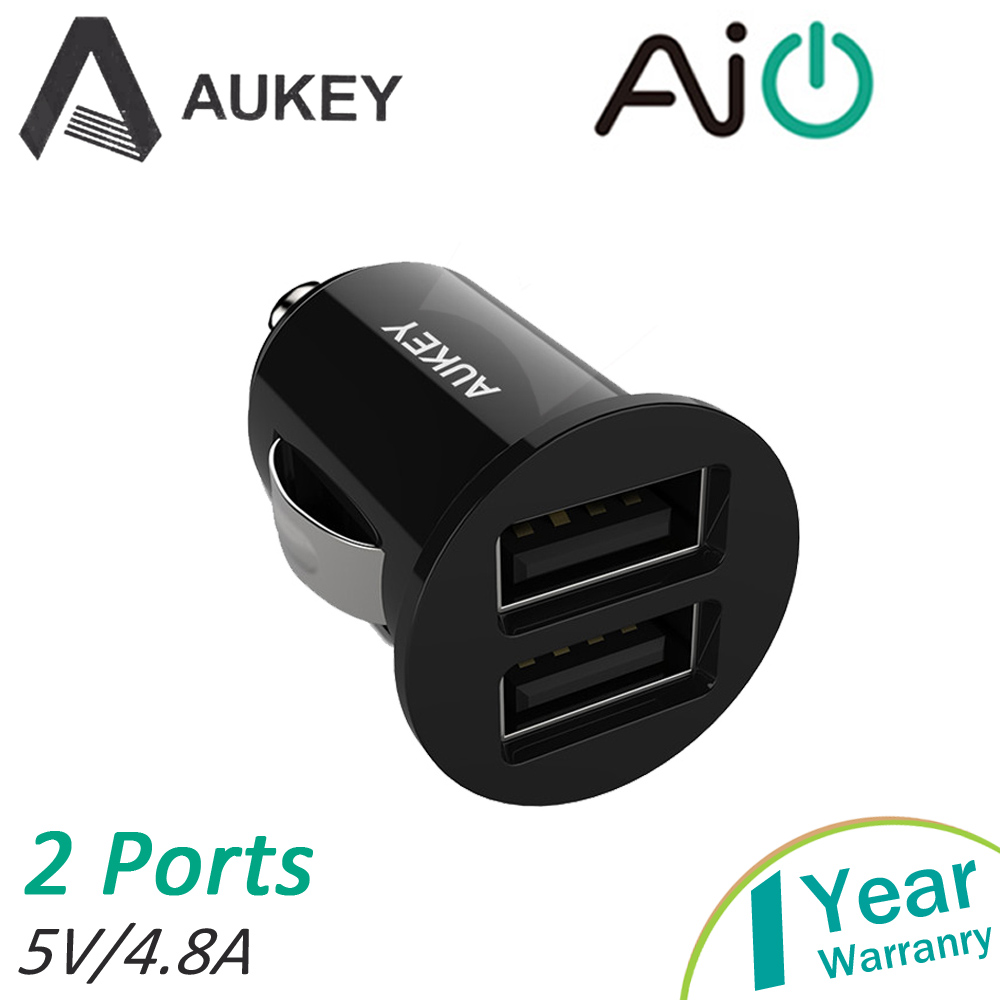 Aukey Dual Usb Car Charger Electronic Cigarette Built in Smart Chip 4.8A 24W AI Power for Apple Samsung LG Adapter CDCCCS1b<br><br>Aliexpress
