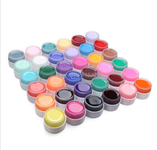 Free Shipping 36 pcs Colors Pure Colour uv gel, Uv gel Set, Builder Gel for nail art