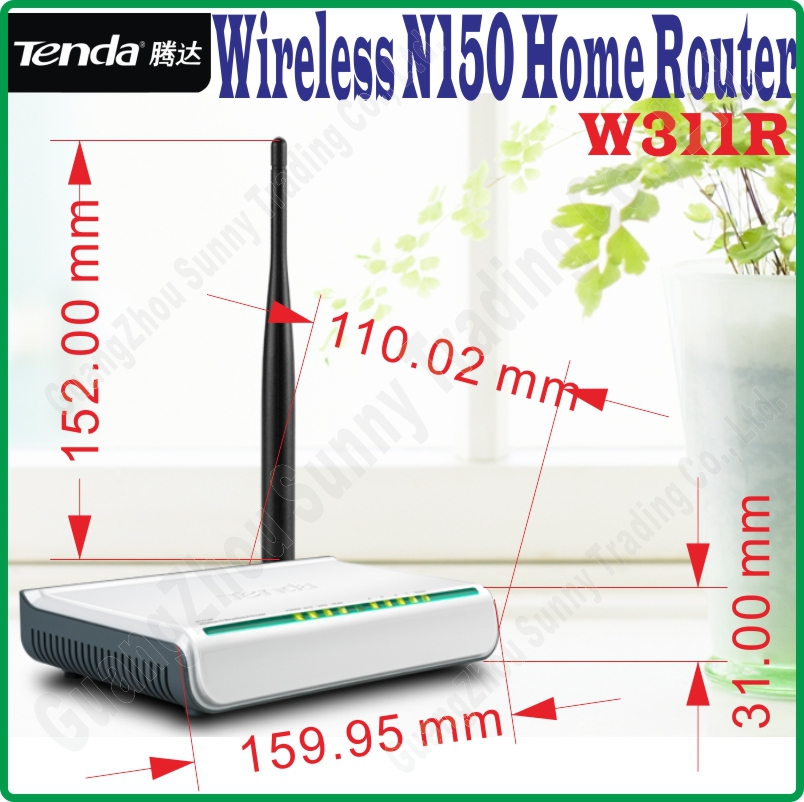 English Firmware Tenda W311R Wireless-N 150M Wireless Router 150Mbps 802.11ngb WiFi 4 LAN Ports Broadband AP Router home router(China (Mainland))