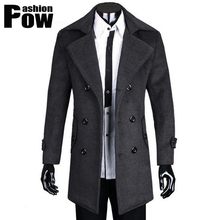 Mens Trench Coat 2015 New Fashion Designer Men Long Coat Autumn Winter Double-breasted Windproof Slim Trench Coat Men Plus Size(China (Mainland))