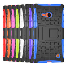 Shimizu case Unique Hybrid Cool Back Cases For Nokia Lumia Microsoft 735 730 N735 phone cases Car Tyre Skin Stand Holder Frame