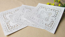 New Arriving! Creative Craft 25.4cm=10 Inch White Square Paper Lace Doilies/Placemat/Party/Wedding Decoration Gift(China (Mainland))