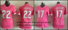 100% stitched WOMEN pink love Chicago Bears ladies 17 Alshon Jeffery 22 Matt Forte Embroidery Logos size S to XXL,camouflage(China (Mainland))