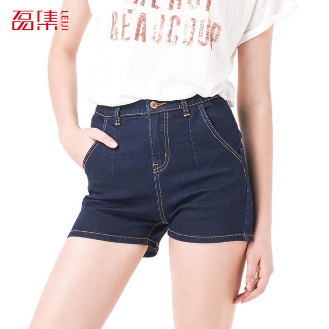 Leiji мода синий S 6XL 2016 новый летний стиль Большой размер женщин высокая талия ...