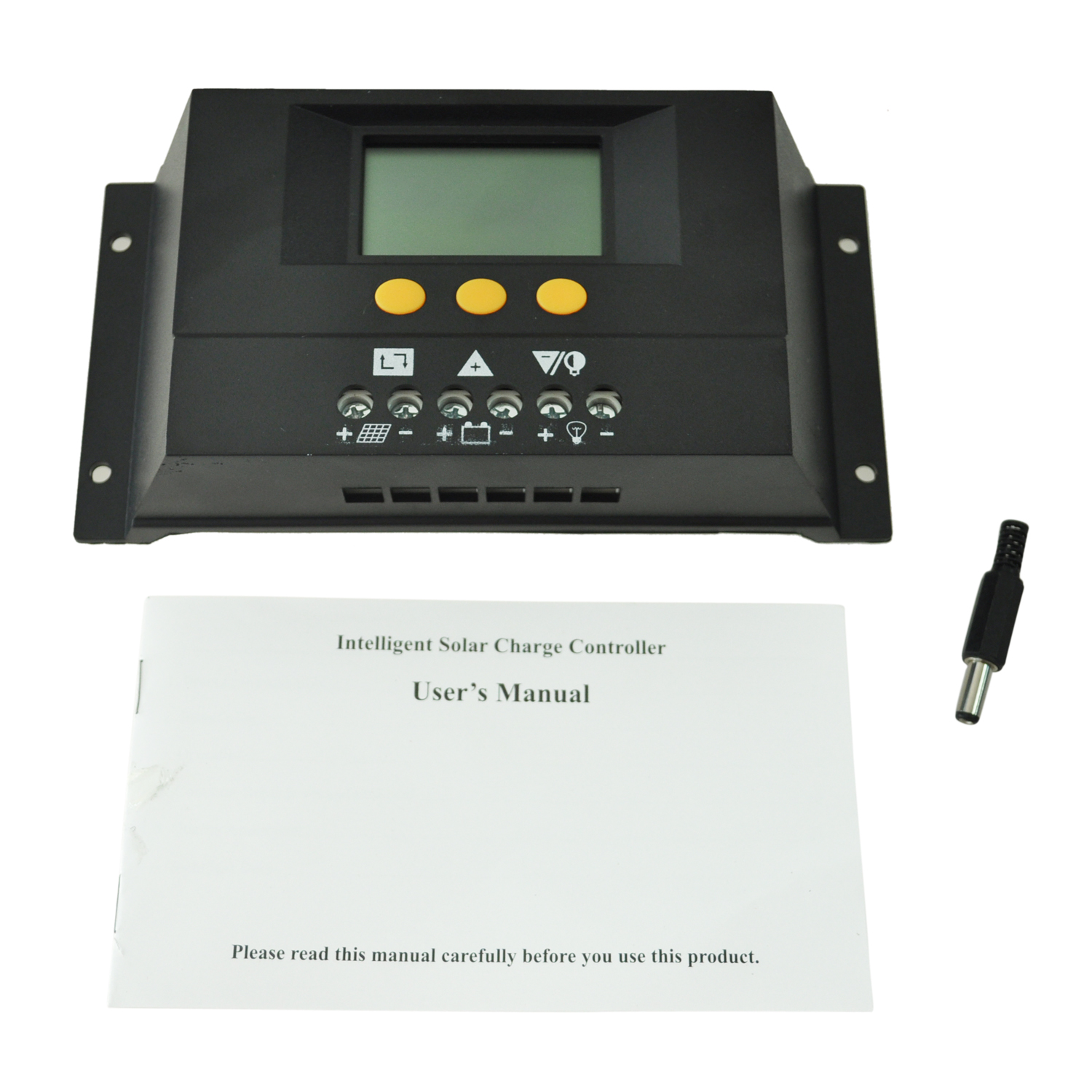 SZS Wholesale 30A 12V/24V Intelligent LCD PWM Solar Charge Controller Solar Panel Battery Regulator(China (Mainland))