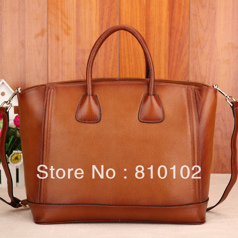 2015 fashion brief women's casual real genuine leather handbag first layer cowhide female messenger bags