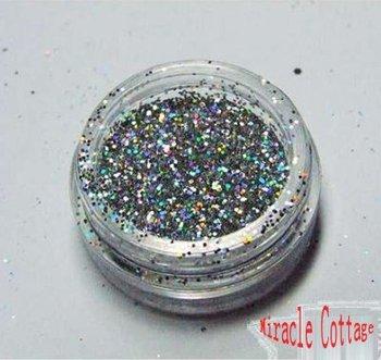Free shpping! (5packs/lot) best sell 1/64=0.4mm laser silver polycrystalline powder,laser powder,flash powder,glitter powder