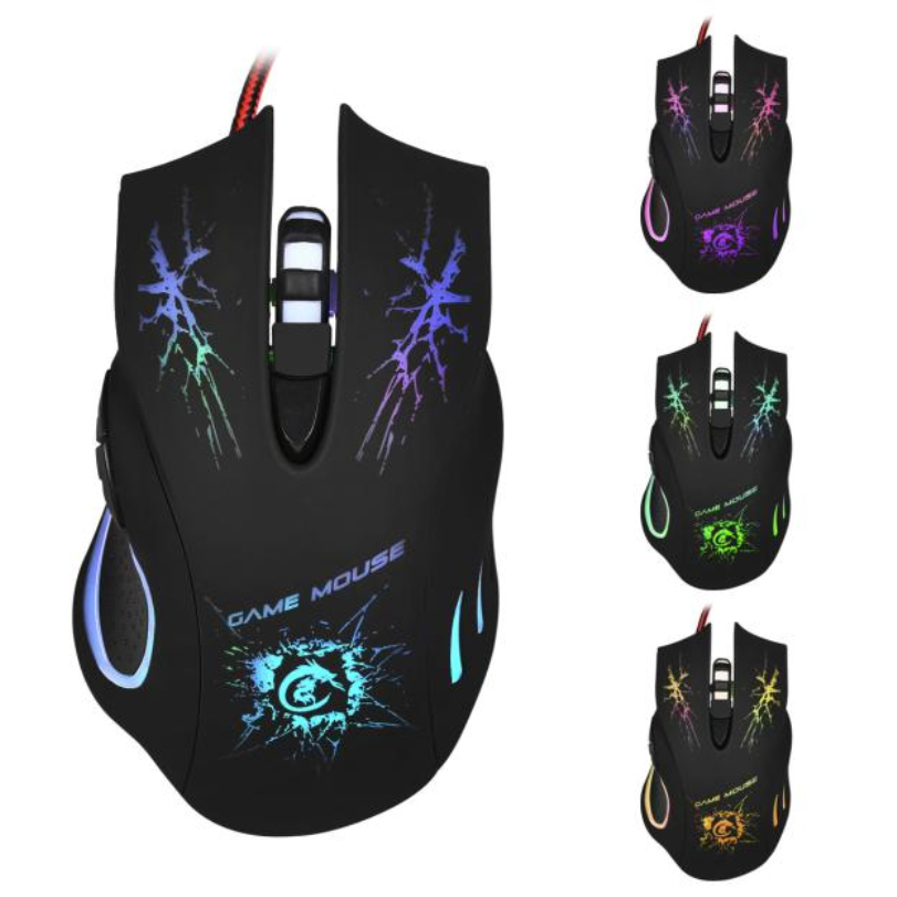 Hot-sale High Quality Gifts Wholesale Gaming Mouse Light 5500 DPI 6D LED Optical USB Wired PRO Game Mouse For PC Laptop Gaming(China (Mainland))