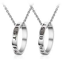 Buy Simple Circle Shape Charms Necklace Letters Best Friends Forever Friends Gifts Fashion Jewelry Necklaces Men for $1.67 in AliExpress store