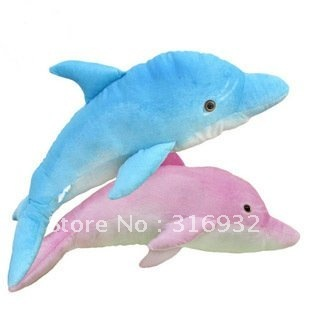 J1 Free shipping for  simulation dolphins plush toys, dolphins plush pillow, 55cm, 1pc